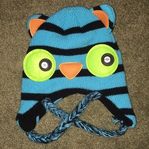 Other - Owl warm cap knit toddler to big kid fit